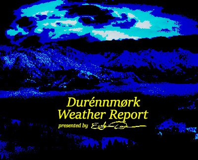 Durénnmørk Weather Report (2020-05-21)